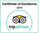 Certificate of Excellence 2014 - Trip Advisor